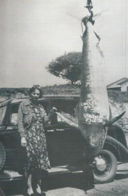 Jess Sams Marlin record catch 1938